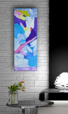 "VE Thomson  In The Clear Air 10"" x 30""/ 25  x 76 cm, Acrylic painting by Valerie Erichsen Thomson on Artfinder. Discover thousands of other original paintings, prints, sculptures and photography from independent artists."