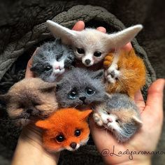 Felted animals - adorable #feltanimals #feltanimalsdiy