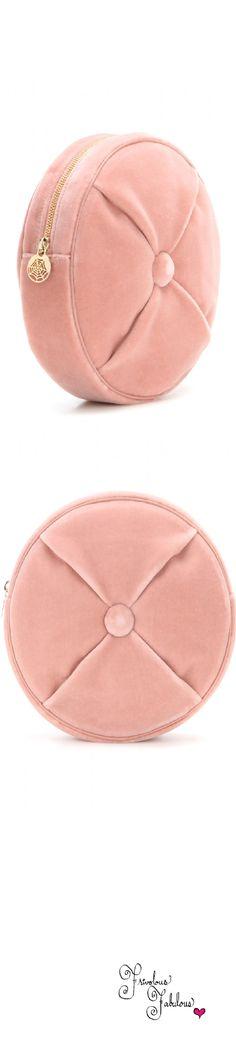 Frivolous Fabulous -  Charlotte Olympia   Cushion Pouch Pink Velvet Clutch for Miss Frivolous Fabulous