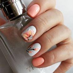 The 110+ best Peach colored nails