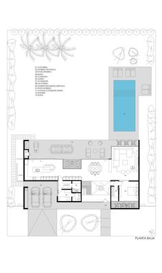 House Layout Plans, Dream House Plans, House Layouts, House Floor Plans, Philippines House Design, Architectural Floor Plans, Villa Plan, Modern Villa Design, Home Design Plans
