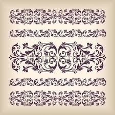 Bildergebnis für schablone ornament barock