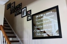Great quote! and not a bad idea either! .... Add a vinyl quote to your mirror for a wall accent that's eye popping!