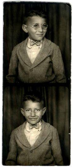 Vintage photobooth boy