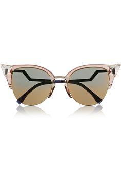 Fendi|Crystal-embellished cat eye Optyl™ sunglasses|NET-A-PORTER.COM