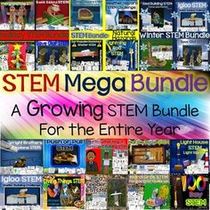 STEM - This GROWING Mega STEM Bundle has a value of $116!  The price will increase as more STEMS are added, but you will never have to pay more to download the added STEMs.  Now is the time for the biggest savings!  Each STEM challenge encourages creative thinking while solving a presented problem.