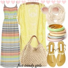 amazing pastel dress Fashion summer beach maxi dresses http://www.justtrendygirls.com/fashion-summer-beach-maxi-dresses/