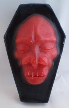 Shrunken Head Coffin Tiki Halloween SOAP Pomegranate by Bloodbath