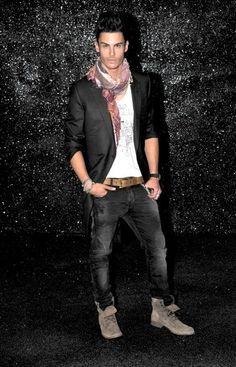 Model: Baptiste Giabiconi Chanel Haute Couture show 'Karl Lagerfeld's male muse'