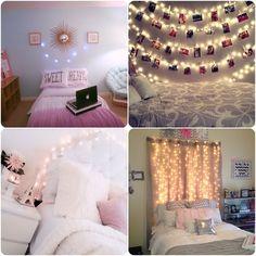 decoração para o seu quarto - Luzes no quarto