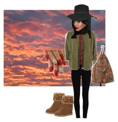 """Brooks tan"" by puddycatshoes ❤ liked on Polyvore"