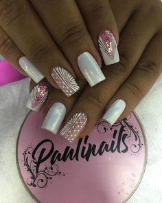 Natural Acrylic Nails, Cute Acrylic Nails, Toe Nail Designs, Fall Nail Designs, Gorgeous Nails, Pretty Nails, Manicure, Mandala Nails, Fire Nails