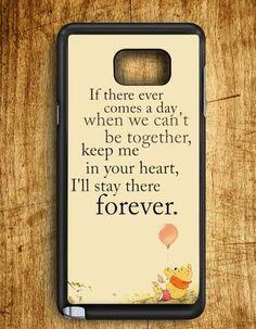 Winnie The Pooh Qoutes Samsung Galaxy Note Edge Case
