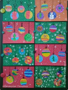 Шарики-фонарики | Страна Мастеров Preschool Christmas Crafts, Christmas Art Projects, Christmas Arts And Crafts, Winter Art Projects, Winter Crafts For Kids, Christmas Activities, Kids Christmas, Holiday Crafts, Art For Kids