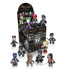 Batman Arkham Mystery Mini Series : Case of 12 - Collect your favorite characters from the hit Batman: Arkham video games series! This Batman Arkham Series Mystery Minis Vinyl Figure Display Case contains 12 blind-bagged mini-figures! The individually packaged blind box figures may include: <p>Joker<br>Red Hood<br>Arkham Asylum Batman<br>Arkham City Batman<br>Arkham Knight Batman<br>Poison Ivy<br>Harley Quinn<br>Catwoman<br>Scarecrow<br>Arkham Knight<br>Robin<br>Nightwing<br>
