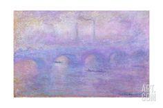 Waterloo Bridge in Fog, 1899-1901 Giclee Print by Claude Monet at Art.com