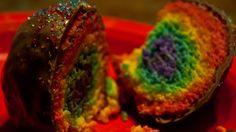 Rainbow Cake Bites!  ALL MINE :)