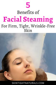 One of the best to maximize your skincare products is to give yourself a facial steaming treatment. Here are many benefits of facial steaming benefits. Facial steaming helps your anti-aging skincare products work better by opening up the pores for greater absorption. Hydrating your skin with steam is a good way to get rid of and tighten crepey skin. There are so many benefits and we believe will tighten crepe skin fast #facialsteamingbenefits #facialsteaming #tightencrepeskin… Wrinkle Remedies, Skin Care Remedies, Anti Aging Skin Care, Natural Skin Care, Natural Beauty, Crepe Skin, Facial Steaming, Skin Tightening, Face Skin
