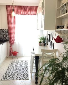 Renovated kitchen with redecorating decor. From Gaye& house . Kitchen Carpet, Kitchen Rug, Kitchen Curtains, Kitchen Decor, Decoration Bedroom, Room Decor, Victorian Fabric, Remodeling Costs, Kitchen Remodeling