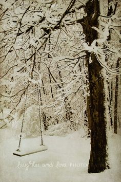 Winter Swing Fine Art Photography Snow White by laughlovephoto