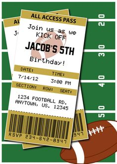 Football Birthday Party or Superbowl by HeathersCreations11, $7.00