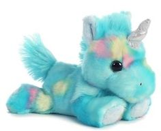 "7"" Blueberryripple Blue Unicorn Plush Stuffed Animal Toy - New"