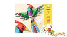 Biztosan hajtogattatok régen tátikát vagy csiki-csukit a suliban. Ezzel a Djeco kreatív készlettel egy különleges 3 dimenziós madarat hajtogathatnak a gyerekek. Az elkészítés módja a hajtogatás, de nem a megszokott origamizással készítjük el ezt a csodaszép madarat. A készletben több, különböző formájú, előre kivágott karton található, ezeket kell meghajtogatni. 3d Poster, Bluebellgray, 3d Wall Art, 3d Origami, Shapes, Display, Kit, Logos, Children