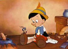 Disney's Pinocchio & Jiminy Cricket Rare Lobby Card