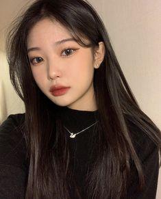 Korean Beauty Girls, Pretty Korean Girls, Asian Beauty, Kiss Makeup, Cute Makeup, Makeup Looks, Ulzzang Hair, Ulzzang Korean Girl, Korean Hair Color