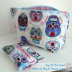 made by ChrissieD: Craftivism At Its Best - Day of the Dead Make-up Bag and Tissue Case