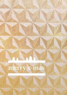 BUTT Papierkram - Type-mas »merry x-mas« (gold)