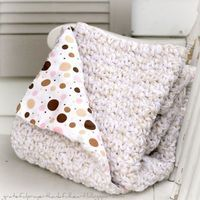 Great idea - line your crochet blankets and afghans with flannel