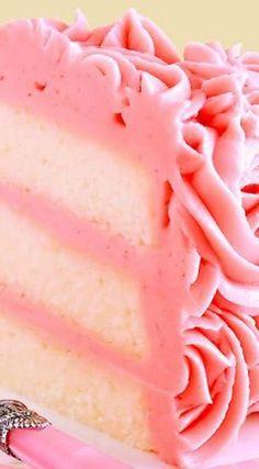 This makes me want cake so bad! White Velvet Layer Cake with Strawberry-Raspberry Mascarpone Buttercream