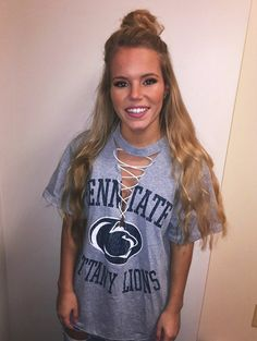 Penn State Lace Up tee by JsTeesPhilly on Etsy