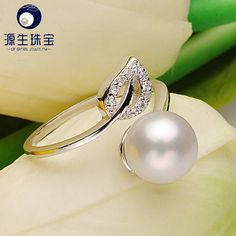 Aliexpress.com : Buy Pearl Jewelry 100% real natural white freshwater pearl ring s925 steriling silver cultured pearl ring for women  YSETB015 from Reliable ring sculpture suppliers on pearls by yuansheng