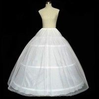Wish   Hot sale 2 layer 3 Hoop Elastic Waist Wedding Bridal Gown drawstring Dress Petticoat Underskirt Crinoline Wedding Dress (Color: White)