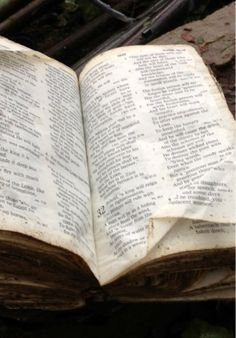 "Bible found among the Oklahoma tornado debris & returned to it's owner. Bible was opened to Isaiah, chapter 32, which reads, ""A man will be as a hiding place from the wind, and a cover from the tempest."""