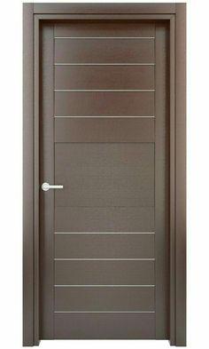 New flush door design modern ideas Bedroom Door Design, Door Design Interior, Interior Barn Doors, Wooden Glass Door, Wooden Main Door Design, Wood Front Doors, The Doors, Panel Doors, Screen Doors