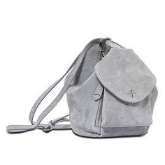 ManuAtelier / Shoulder / Backpack / Gray / Suede / MiniFernweh