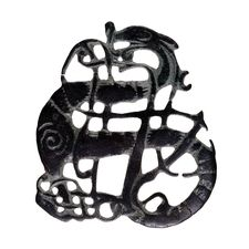 Brooch in the Urnes style.  Viking, 11th century AD  Found near the village of Kiaby, Skåne, Sweden    Female costume jewellery