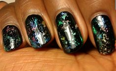 Nail foil, mani, nail art