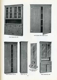 Kitchen cabinets from 1923 Pacific house catalog