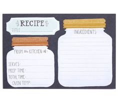 Your kitchen is calling out for these adorable illustrated recipe cards! These…