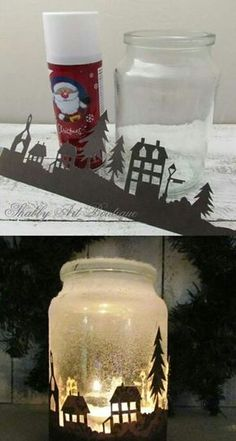 Fantastic Free of Charge old Candles Lanterns Suggestions Luminous made of wax vessel lamps are certainly one associated with my personal favorite solutions t Mason Jar Christmas Crafts, Christmas Candle, Mason Jar Crafts, Mason Jar Diy, Christmas Deco, Bottle Crafts, Christmas Projects, Holiday Crafts, Christmas Ornaments