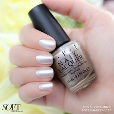 We're obsessing over metallics for spring! #ThisSilversMine is a key addition to your #OPISoftShades collection. Shop this shade at Ulta and Macy's.