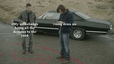 "See? You totally feel better, dance it out Top Model. | ""Supernatural"" As Told By Someone Who's Never Seen It"