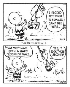 First Appearance: May 23rd, 1990 #peanutsspecials #ps #pnts #schulz #charliebrown #sallybrown #summer #camp #year #decision #yes #three #seconds www.peanutsspecials.com