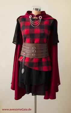Forget being little red riding hood for Halloween - how about Cerise Hood?