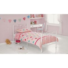 Phoebe Single Bed Frame - White at Homebase -- Be inspired and make your house a home. Buy now.
