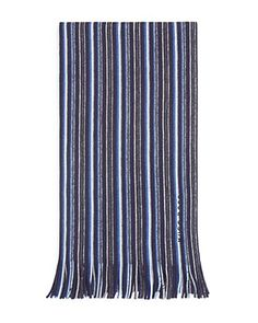 A Gift for The Sucker for Stripes... This fringed virgin wool scarf features a colorful mulstripe design and embroidered logo detail. Go for It! Free shipping through 12/22/15.
